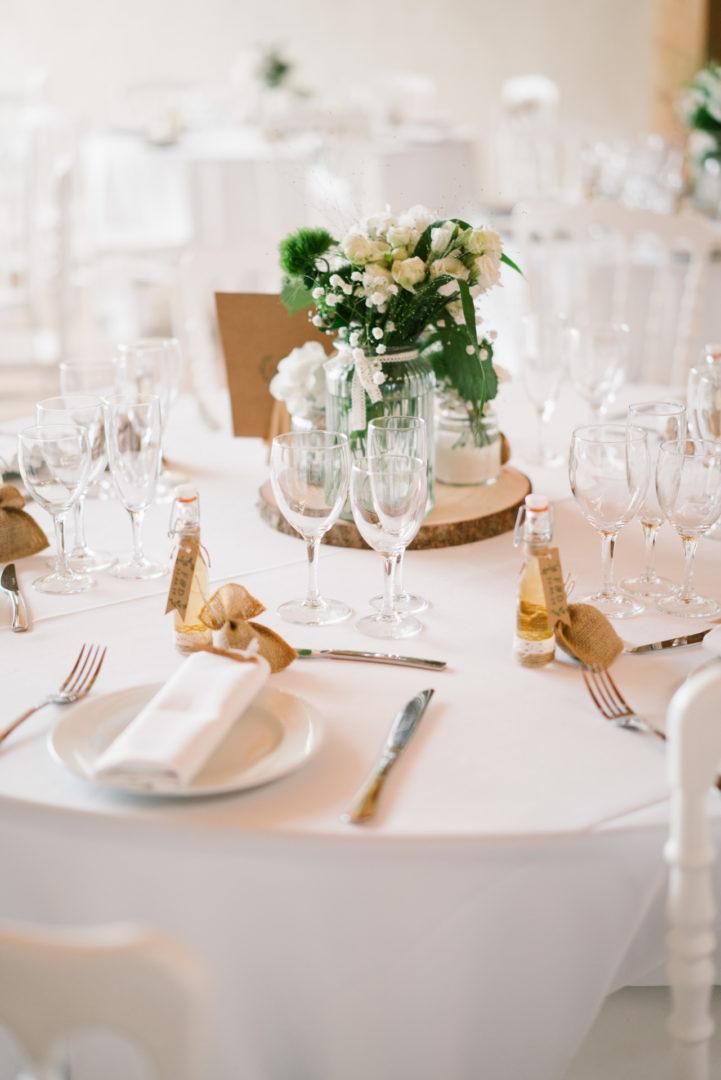 mariage table chateau de lhers