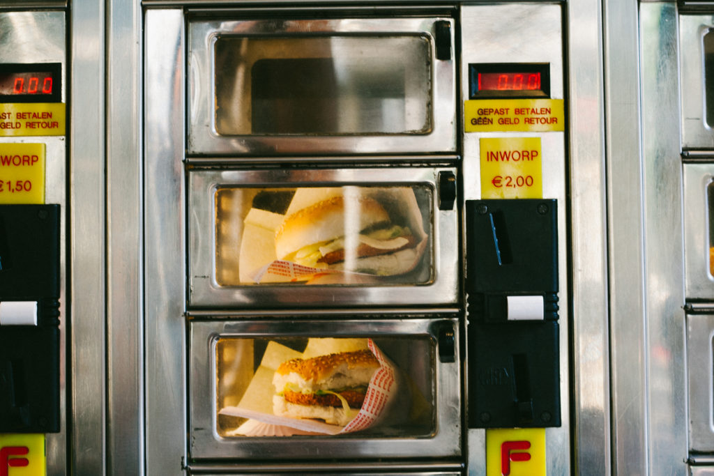 Photo Distributeur Hamburger consommation