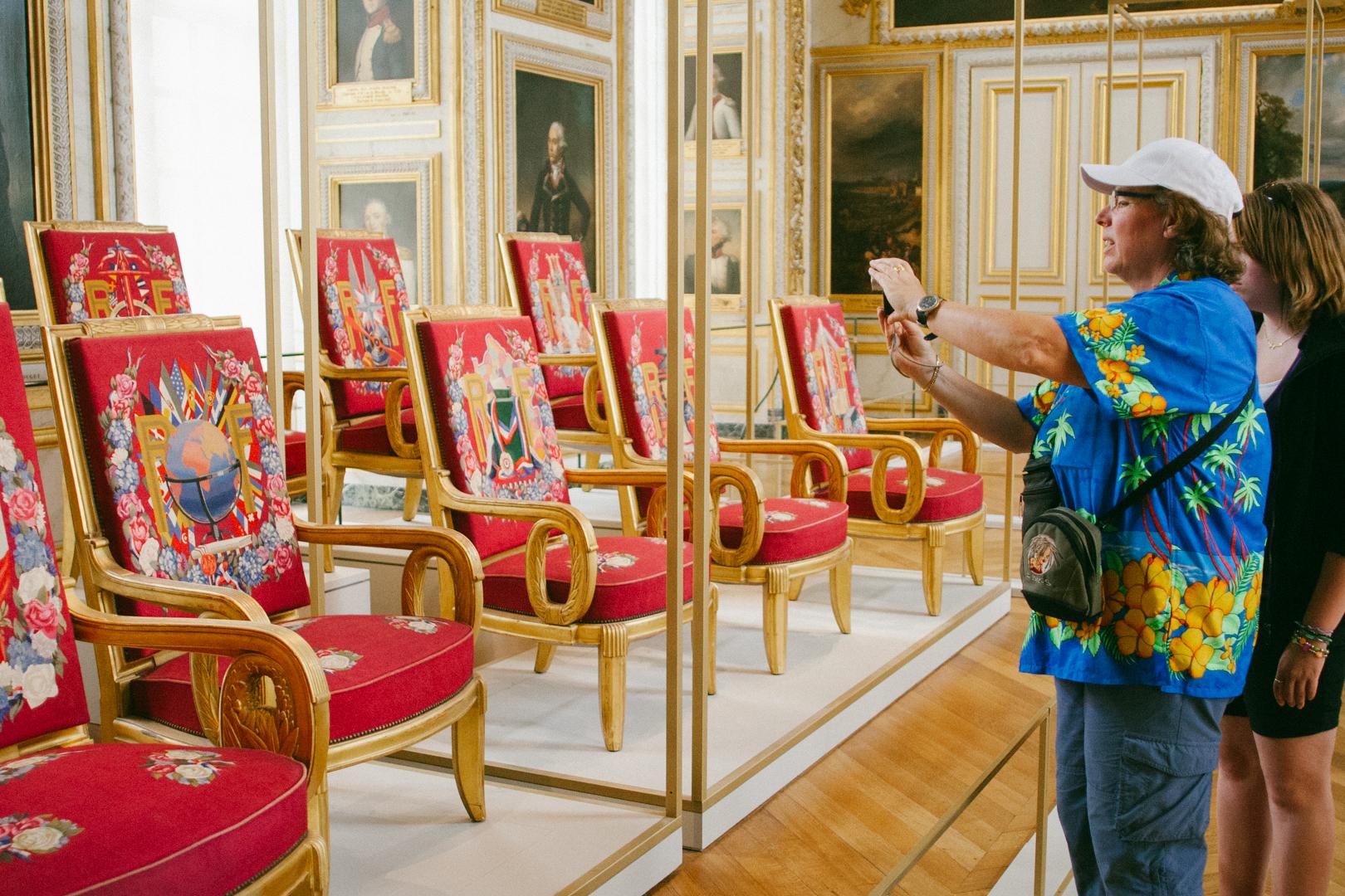 Photo touriste drôle Versailles