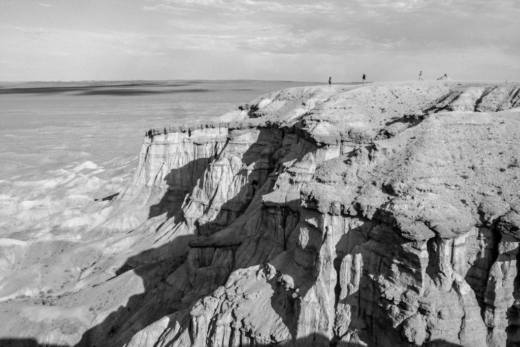 desert mongolie noir et blanc